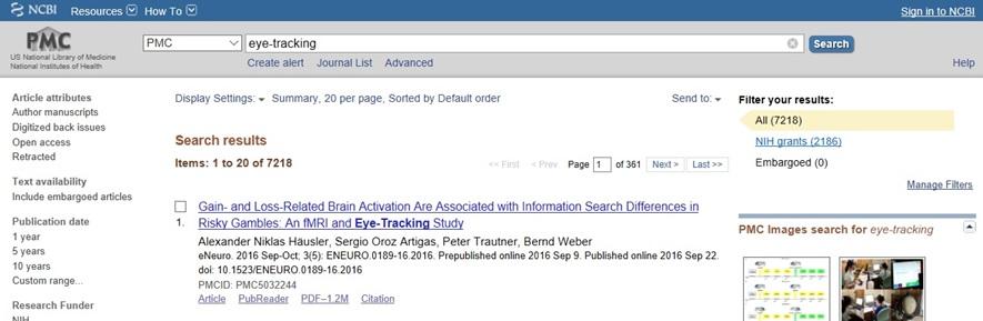 NCBI search