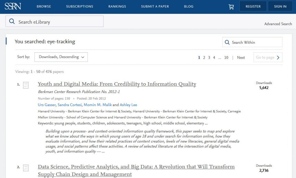 SSRN search