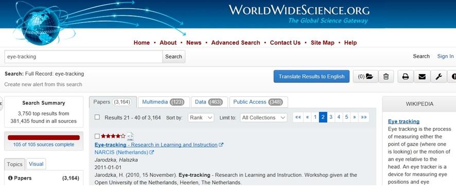 WWS Search eye-tracking