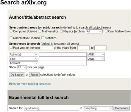 Arxxiv search