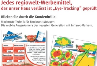 Werbezettel Heatmap Eye-tracking