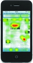 Smartphone heatmap eye-tracking