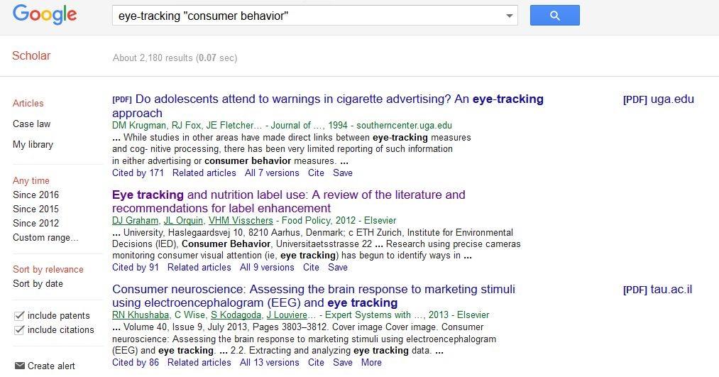 Google Eye-tracking